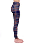 Regular Leggings (8-12 UK Size) - Midnight Tartan - Kukubird_UK