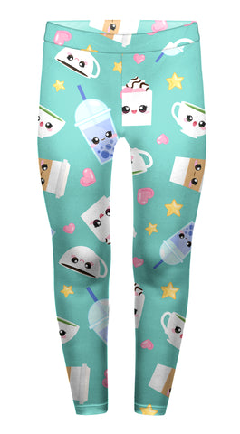 Cute Café Drink Children's Leggings - Kukubird_uk Leggings, Tights