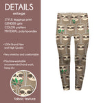 Children's Leggings - Happy Sloth - Kukubird_UK