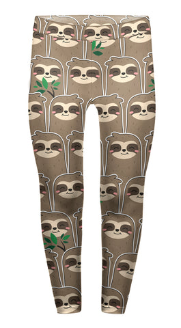 Happy Sloth Children's Leggings - Kukubird_uk Leggings, Tights