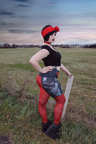 Red Hero - Kukubird_uk Leggings, Tights