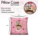 Pillow - Flowers Sloth - Kukubird_UK