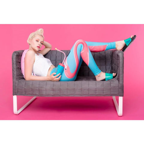 Regular Leggings (8-12 UK Size) - I Love My Flamingo - Kukubird_uk Leggings, Tights