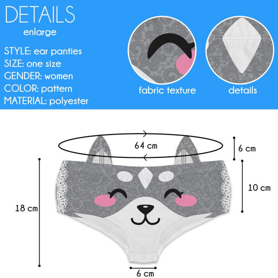 Ear Pantie - Wolf Whistle (6-10 UK Size) - Kukubird_UK