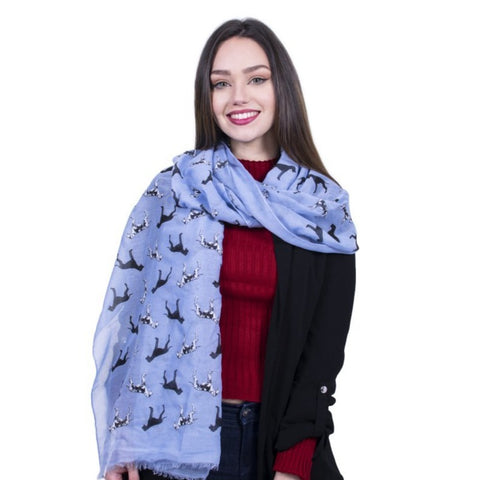 Great Dane Dog Scarf -  Dark Blue - Kukubird_uk Leggings, Tights