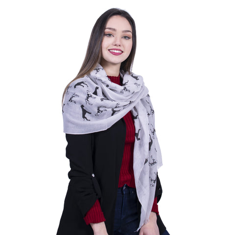 Great Dane Dog Scarf -  Grey - Kukubird_uk Leggings, Tights