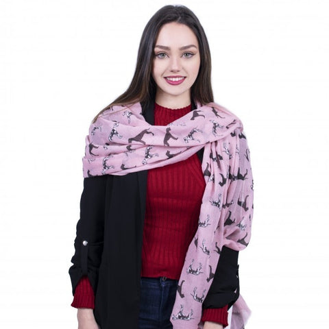 Great Dane Dog Scarf -  Pink - Kukubird_uk Leggings, Tights