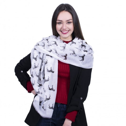 Great Dane Dog Scarf -  White - Kukubird_uk Leggings, Tights