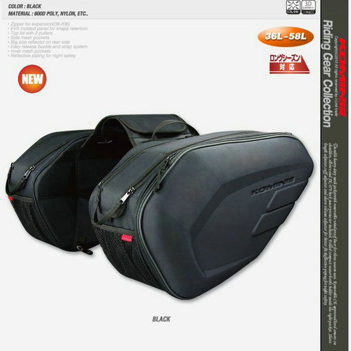 2017 Promotion Sa212 Motorcycle Saddle Bag Bags Motorbike Side Helmet Oxford Riding Travel Bags + Rain Cover One Pair