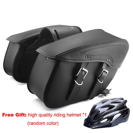 Popular Hard PU Leather Saddle Bags Motorcycle Bag Luggage Tank Bags Sacoches Maleta Moto Alforjas Mochila Para Moto for Harley