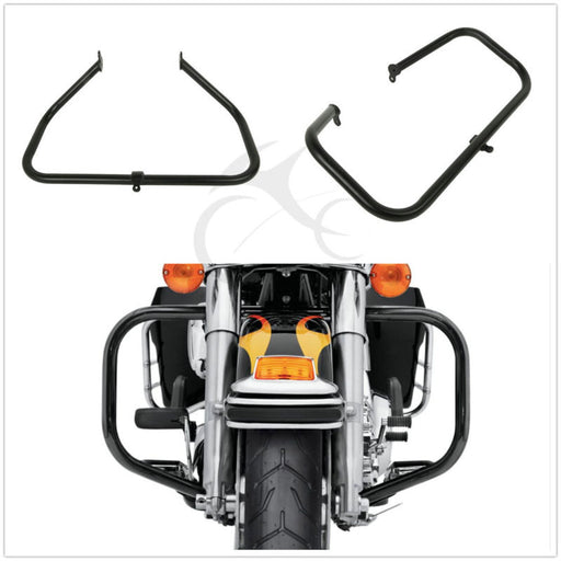 Black Highway Engine Guard Crash Bar For Harley Touring Road King Road Glide 09+
