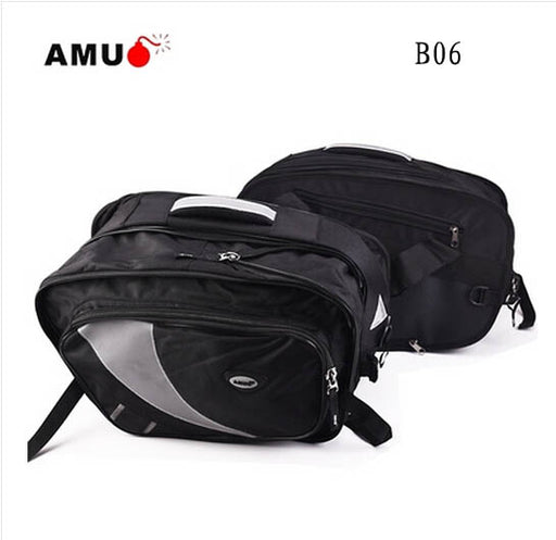 AMU Waterproof Saddlebags Oxford Motorcycle Rear Seat Package Bags Motos Tail Luggage Side Suitcase Motocross Oil Fuel Tank Bag