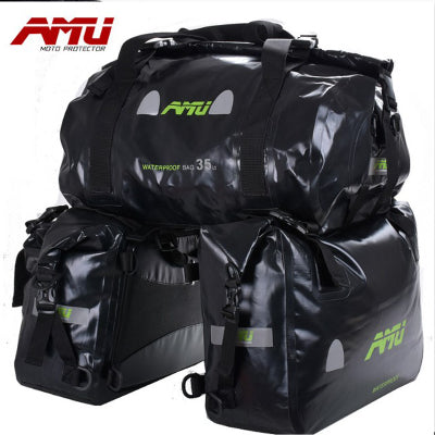 AMU Motorcycle waterproof Saddlebags Waterproof tank bag Racing Riding Motor Helmet Bags Oil Travel Luggage rear seat bags