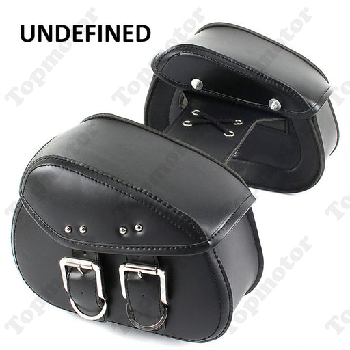 UNDEFINED Universal Motorcycle bike Parst Left & Right Side Saddle Storage Bags Tool Luggage Pannier For Bobber Chopper Cruiser