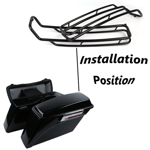 Fit For Harley Davidson Touring Models road glide road king ultra street glide 1994-2013 Black Saddlebags Lid Top Rail Guard