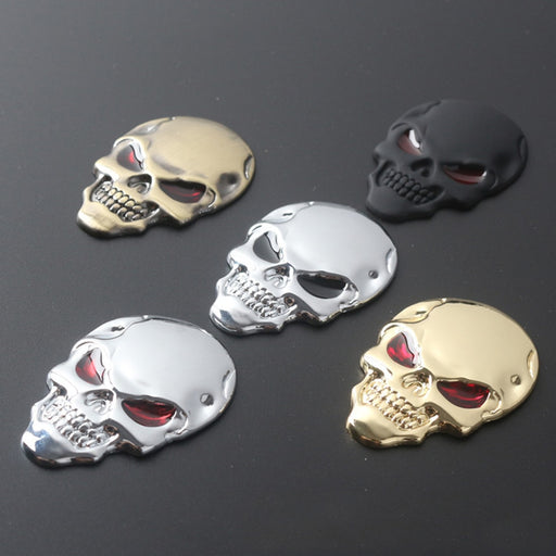 Dewtreetali hot 3D Metal Skull Car Stickers new beautiful motorcycle truck emblem Decals car sign car decoration accessories