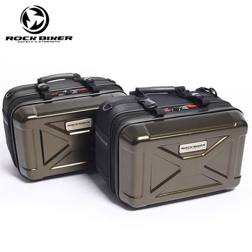 ROCK BIKER Motorcycle Top Case Aluminum Cargo Tail Box Motorbike Top Box Street Bike Rear Luggage Topcase Touring Saddle Bag
