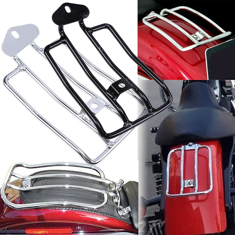 Black/Chrome Luggage Carrier Motorcycle Luggage Rack Rear Fender Rack Support Shelf Luggage Rack For Harley Sportster XL883 1200