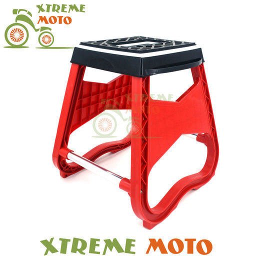 Universal Steel Engineering Grade Plastic Motorcycle Motocross Stand Stool Repairing Lift Repair Support Holder