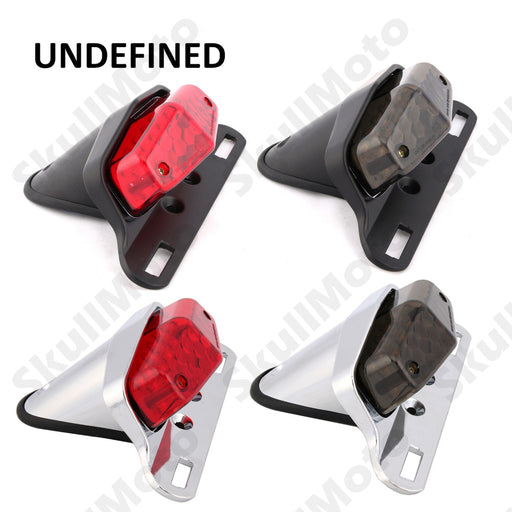 Motorcycle Parts British Lucas Style LED Rear Tail Brake Light License Plate Mount For Custom Chopper Bobber Cruiser UNDEFINED