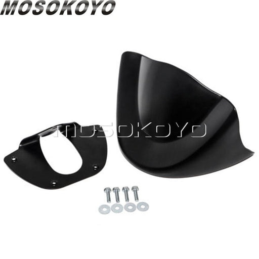 Gloss Matte Black Front Chin Spoiler Lower Chin Air Dam Fairing for Harley Dyna Fat Bob Wide Glide FXD 2006-2017