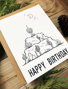 Greeting Card | Desert Birthday Cake