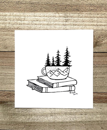 Cozy Days 4x4 Art Print