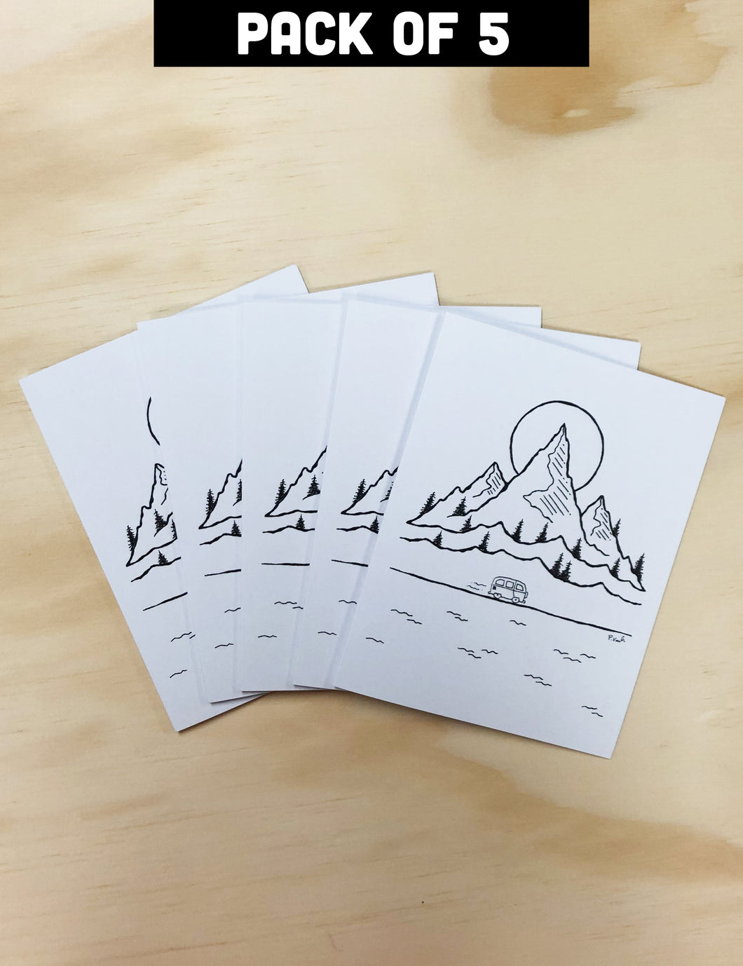 Greeting Card Pack of 5 | New Adventures