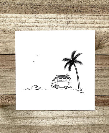 To the Beach 4x4 Art Print