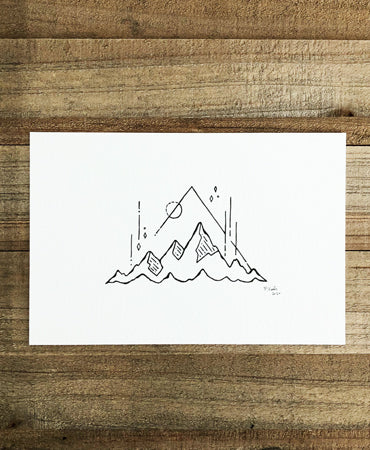 Original INK |  Three Peaks 6x4