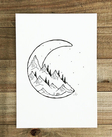 Original INK |  Moon Ridge 5x7