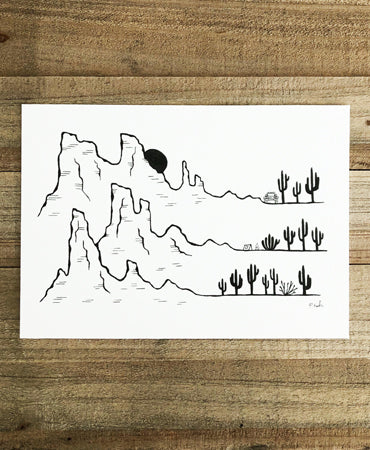 Original INK |  Happy Places no.7 7x5