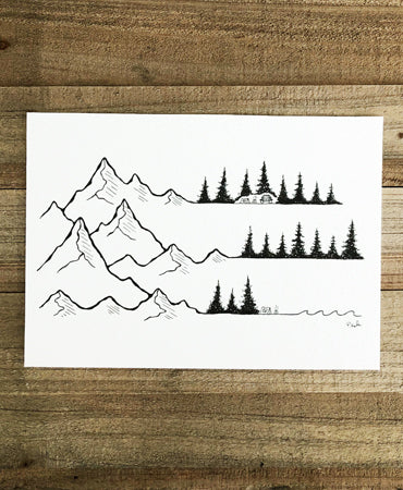 Original INK |  Happy Places no.8 7x5