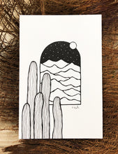 Load image into Gallery viewer, Original INK |  Desert View 4x6