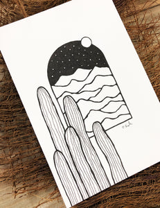 Original INK |  Desert View 4x6