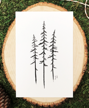 Load image into Gallery viewer, Wild Pines 4x6 Art Print