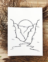 Load image into Gallery viewer, Original INK |  Canyon Sunset 5x7
