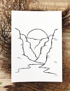 Original INK |  Canyon Sunset 5x7