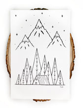 Load image into Gallery viewer, NEW Original INK | Wanderlust Cabin 6x9