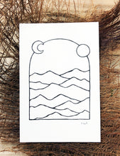 Load image into Gallery viewer, Original INK |  Mountains of the Desert 4x6