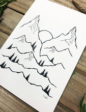 Load image into Gallery viewer, Original INK |  Mountains 5x7