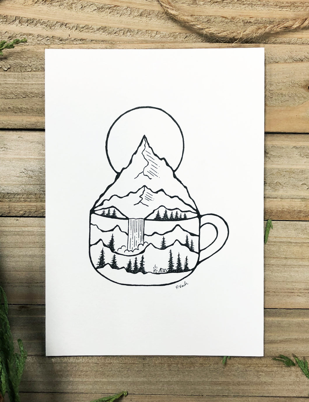 Original INK |  Morning Dose: Strong Brew 5x7