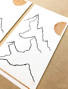 NEW Original INK + Thread |  Mountain Lines Set of 3