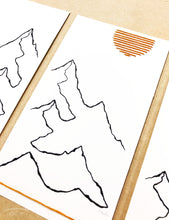 Load image into Gallery viewer, NEW Original INK + Thread |  Mountain Lines Set of 3