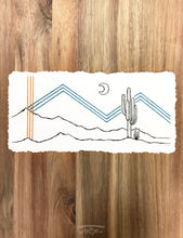 Load image into Gallery viewer, NEW Original INK + Thread |  Framed Desert #5