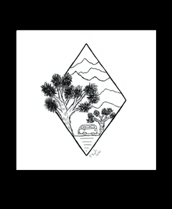 Joshua Tree Adventure 4x4 Art Print