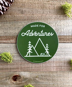 Made for Adventure Vinyl Sticker