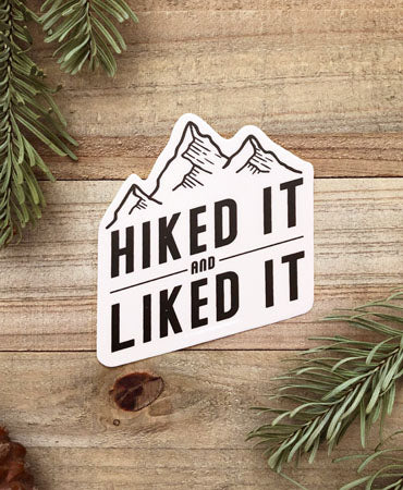 NEW Hiked it Vinyl Sticker
