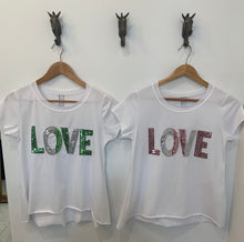Load image into Gallery viewer, LOVE SEQUIN TEE