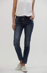 ITALIAN STAR BUTTON JEAN (available in 6 colours)